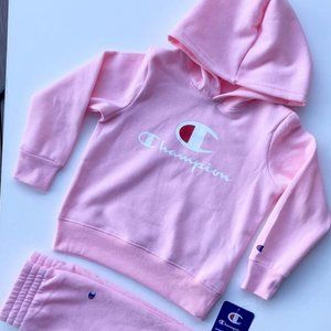 BNWT Champion Heritage Girls two pieces Hooded set